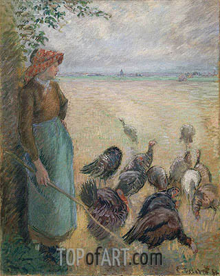 Turkey Girl, 1884 | Pissarro| Painting Reproduction