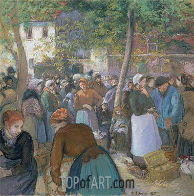 Poultry Market at Gisors, 1885 | Pissarro | Gemälde Reproduktion