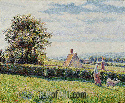 Spring Pasture, 1889 | Pissarro| Painting Reproduction