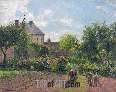 The Artist's Garden at Eragny, 1898 | Pissarro | Painting Reproduction