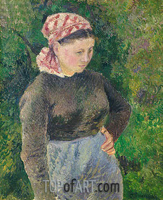 Peasant Woman, 1880 | Pissarro| Painting Reproduction