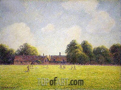 Hampton Court Green, 1891 | Pissarro | Painting Reproduction