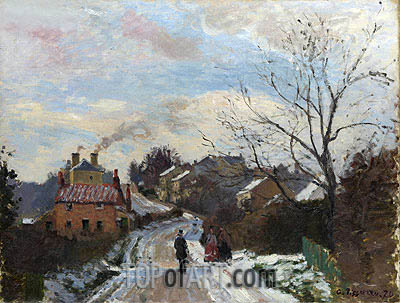 Fox Hill, Upper Norwood, 1870 | Pissarro| Painting Reproduction