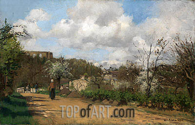View from Louveciennes, c.1869/70 | Pissarro| Painting Reproduction