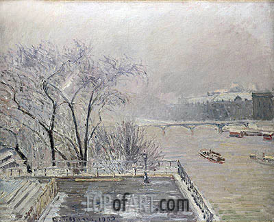 The Louvre under Snow, 1902 | Pissarro | Painting Reproduction
