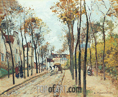 The Boulevard des Fosses, Pontoise, 1872 | Pissarro| Painting Reproduction