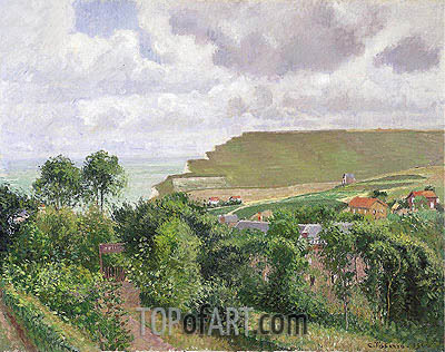 View of Berneval, 1900 | Pissarro | Painting Reproduction