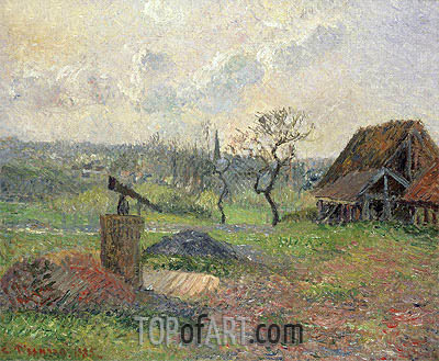 Brick Kiln at Eragny, 1885 | Pissarro| Painting Reproduction
