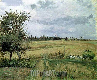 Landscape at Pontoise, 1872 | Pissarro | Painting Reproduction