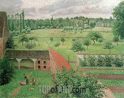 View from my Window, Eragny-sur-Epte, 1888 | Pissarro | Gemälde Reproduktion