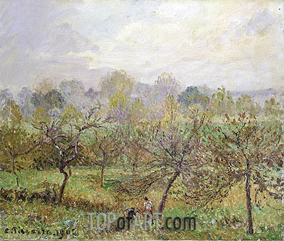 Autumn, Morning Mist, Eragny-sur-Epte, 1902 | Pissarro | Painting Reproduction