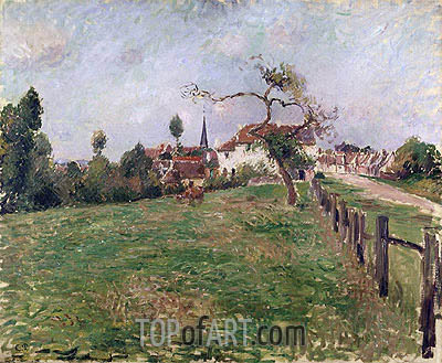 The Village of Eragny, 1885 | Pissarro | Painting Reproduction