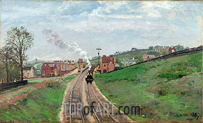 Lordship Lane Station, Dulwich, 1871 | Pissarro | Painting Reproduction