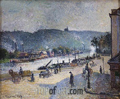 Quays at Rouen, 1883 | Pissarro| Gemälde Reproduktion