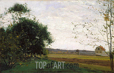 Landscape, c.1865 | Pissarro| Painting Reproduction