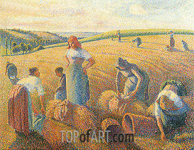 The Gleaners, 1889 | Pissarro| Gemälde Reproduktion