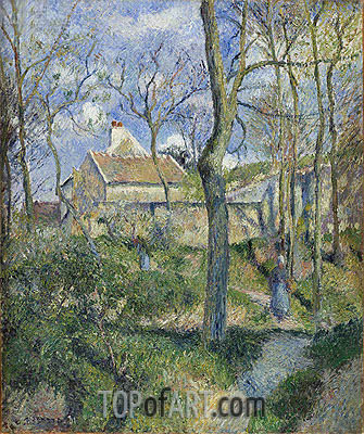 The Path to Les Pouilleux, Pontoise, 1881 | Pissarro| Painting Reproduction