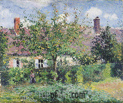 Peasant House at Eragny, 1884 | Pissarro | Painting Reproduction