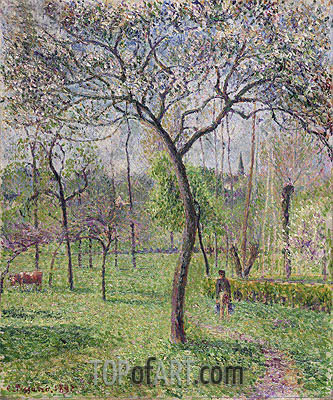 Landscape (Orchard), 1892 | Pissarro | Painting Reproduction