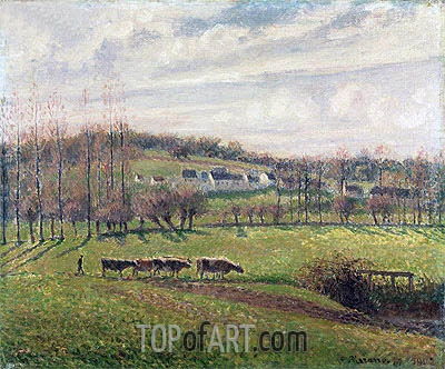 Summer Landscape, Eragny, c.1887/02 | Pissarro| Painting Reproduction