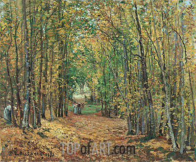 The Woods at Marly, 1871 | Pissarro | Painting Reproduction