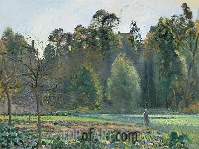 The Cabbage Field, Pontoise, 1873 | Pissarro| Painting Reproduction
