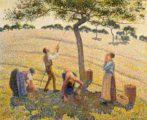 Apple Picking at Eragny-sur-Epte, 1888 | Pissarro| Painting Reproduction