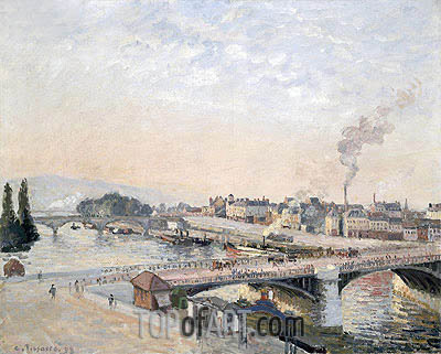 Sunrise at Rouen, 1898 | Pissarro | Painting Reproduction