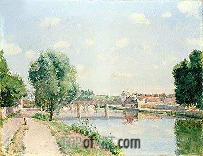 The Railway Bridge, Pontoise, undated | Pissarro | Painting Reproduction
