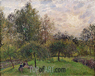 Apple Trees and Poplars in the Setting Sun, 1901 | Pissarro| Painting Reproduction