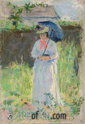 Woman with a Parasol, undated | Pissarro | Painting Reproduction