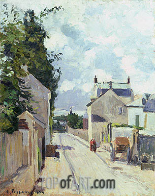 Rue de l'Ermitage, Pontoise, 1874 | Pissarro | Painting Reproduction