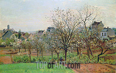 The Orchard, 1870 | Pissarro | Painting Reproduction