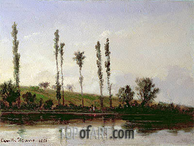 On the Outskirts of Paris, 1856 | Pissarro| Painting Reproduction