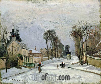 The Versailles Road at Louveciennes, 1869 | Pissarro | Painting Reproduction