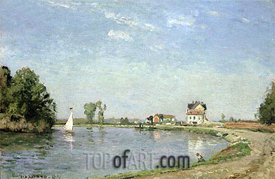 At the River's Edge, 1871 | Pissarro| Painting Reproduction