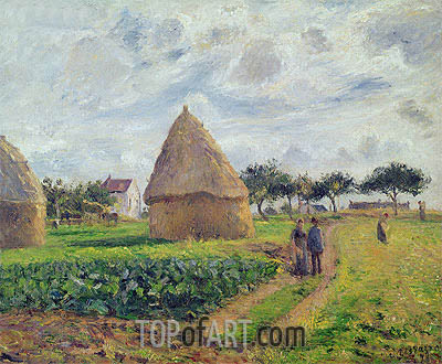 Haystacks, 1878 | Pissarro| Painting Reproduction