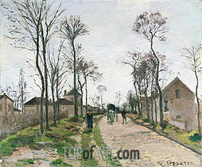 The Road to Saint Cyr at Louveciennes, c.1870 | Pissarro| Painting Reproduction