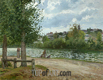 The Banks of the Oise at Pontoise, 1870 | Pissarro | Painting Reproduction