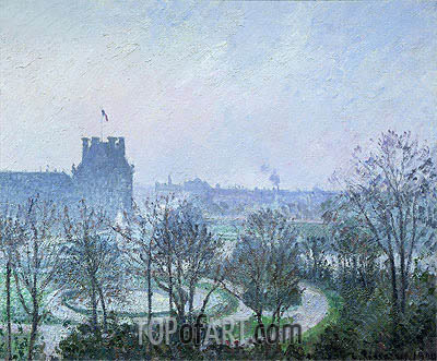White Frost, Jardin des Tuileries, 1900 | Pissarro| Painting Reproduction
