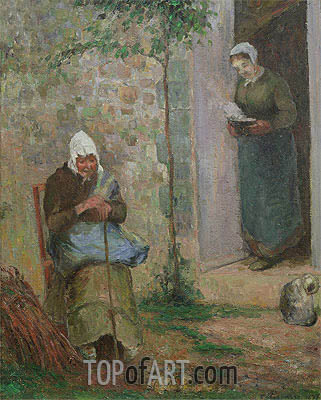 Charity, 1876 | Pissarro | Painting Reproduction