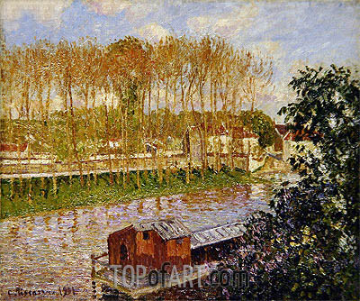 Sunset at Moret-sur-Loing, 1901 | Pissarro | Painting Reproduction