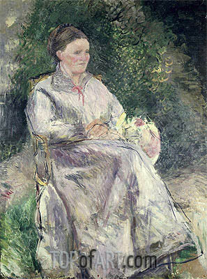 Portrait of Julie Velay, Wife of the Artist, c.1874 | Pissarro | Painting Reproduction