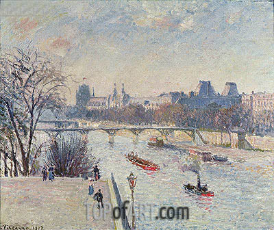 The Louvre, 1902 | Pissarro | Painting Reproduction