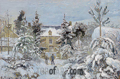 Piette's House at Montfoucault, 1874 | Pissarro | Painting Reproduction