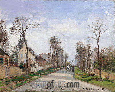 The Road to Versailles at Louveciennes, 1870 | Pissarro | Painting Reproduction