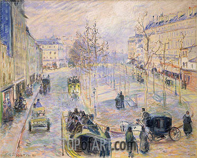Le Boulevard de Clichy, 1880 | Pissarro | Painting Reproduction