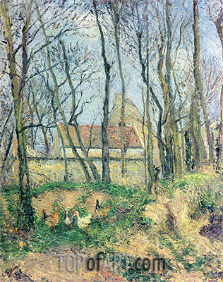 The Path of the Wretched, 1878 | Pissarro | Painting Reproduction