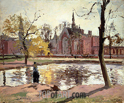 Dulwich College, London, 1871 | Pissarro| Painting Reproduction