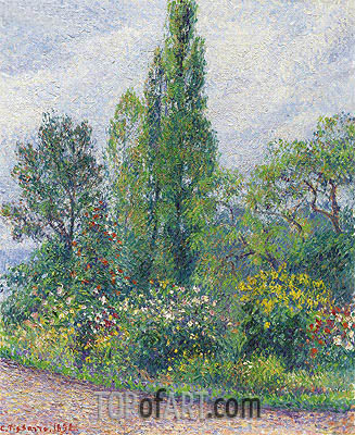 Le Jardin d'Octave Mirbeau a Damps, 1892 | Pissarro| Painting Reproduction